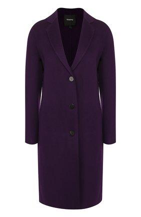 Женское шерстяное пальто THEORY фиолетового цвета, арт. I1101405 | Фото 1