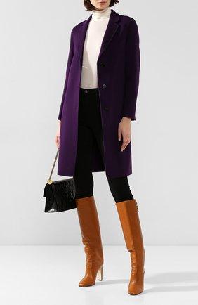 Женское шерстяное пальто THEORY фиолетового цвета, арт. I1101405 | Фото 2
