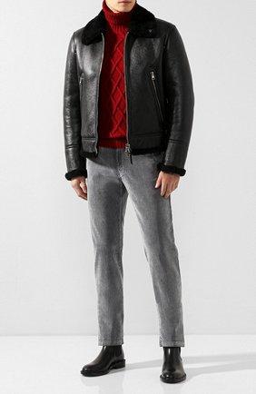 Мужские джинсы KITON серого цвета, арт. UFPPTM/J03S94 | Фото 2