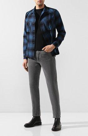 Мужская рубашка из смеси хлопка и шерсти RRL синего цвета, арт. 782754442 | Фото 2