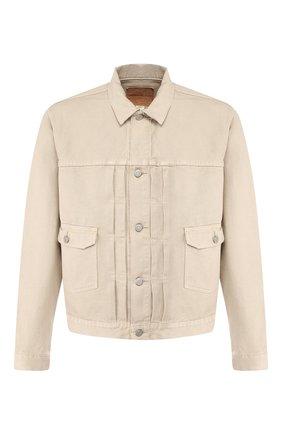 Мужская хлопковая куртка RRL бежевого цвета, арт. 782751306 | Фото 1