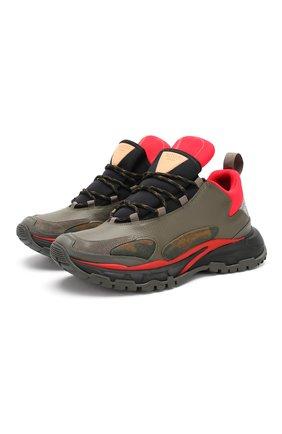Комбинированные кроссовки Valentino Garavani Trekking   Фото №1