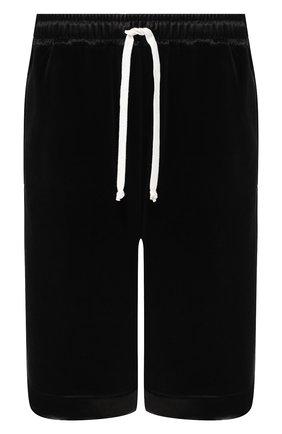 Мужские хлопковые шорты GUCCI черного цвета, арт. 595537/XJBTF | Фото 1