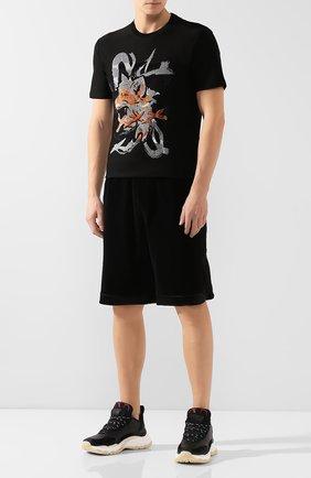 Мужские хлопковые шорты GUCCI черного цвета, арт. 595537/XJBTF | Фото 2