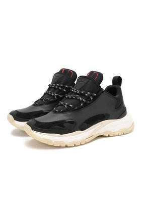 Мужские комбинированные кроссовки valentino garavani trekking VALENTINO черного цвета, арт. SY0S0C15/PKI   Фото 1