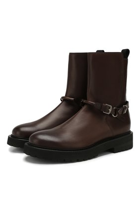 Мужские кожаные сапоги BOTTEGA VENETA темно-коричневого цвета, арт. 578286/VIFH0 | Фото 1