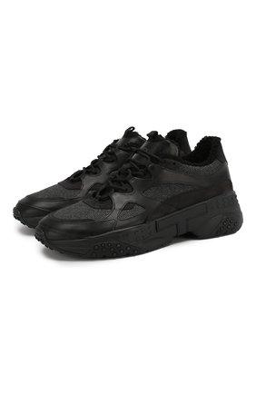 Мужские комбинированные кроссовки TOD'S черного цвета, арт. XXM57B0BL41MUP | Фото 1