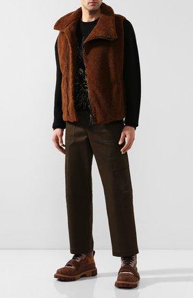 Мужские комбинированные ботинки DOLCE & GABBANA темно-коричневого цвета, арт. CS1699/AJ012 | Фото 2