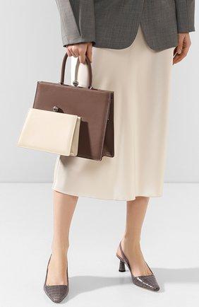 Женская сумка twin frame RATIO ET MOTUS серого цвета, арт. REM19FWTFEP-SL | Фото 2