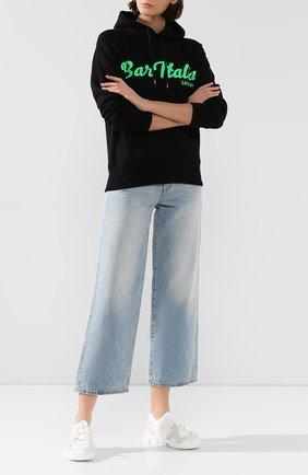 Женские текстильные кроссовки sorrento DOLCE & GABBANA белого цвета, арт. CK1718/AA096 | Фото 2