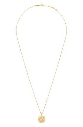 Женская кулон на цепочке HANKA_IN золотого цвета, арт. H0P-C042-M0M | Фото 1 (Материал: Металл)