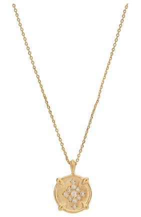 Женская кулон на цепочке HANKA_IN золотого цвета, арт. H0P-C042-M0M | Фото 2 (Материал: Металл)
