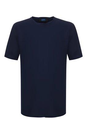 Мужская хлопковая футболка KNT синего цвета, арт. UMM0024 | Фото 1