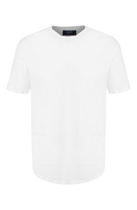 Мужская хлопковая футболка KNT белого цвета, арт. UMM0024 | Фото 1