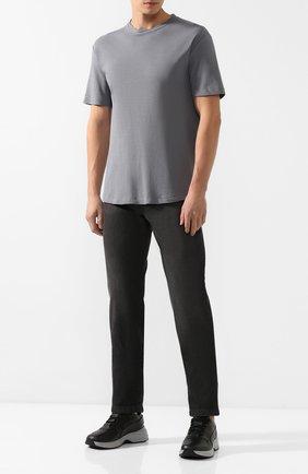 Мужская хлопковая футболка KNT серого цвета, арт. UMM0024 | Фото 2