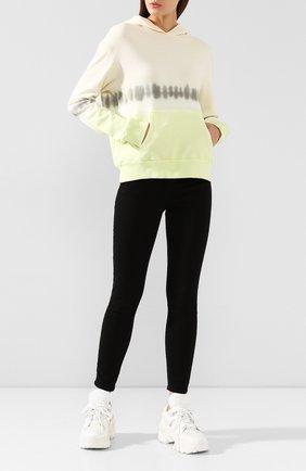 Женская хлопковое худи MONROW желтого цвета, арт. HT0856-1 | Фото 2