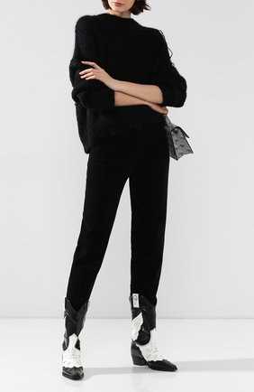 Женские хлопковые брюки ISABEL MARANT черного цвета, арт. PA1466-19H014I/DEB0RA | Фото 2