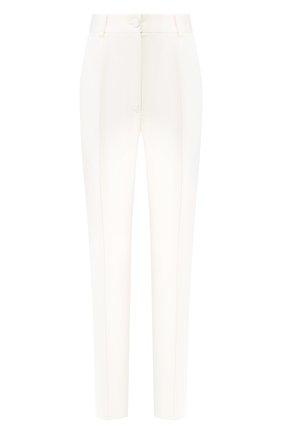 Женские шелковые брюки DOLCE & GABBANA белого цвета, арт. FTAM2T/FU1CJ | Фото 1