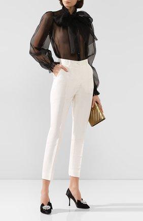 Женские шелковые брюки DOLCE & GABBANA белого цвета, арт. FTAM2T/FU1CJ | Фото 2
