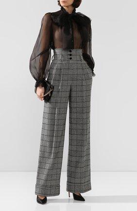 Женские брюки DOLCE & GABBANA серого цвета, арт. FTBM8T/FQRBP | Фото 2
