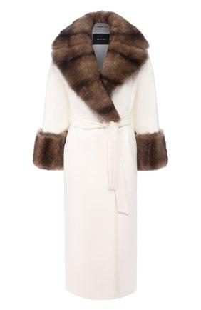 Пальто с меховой отделкой | Фото №1