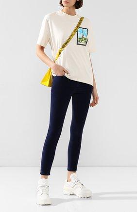Женские джинсы-скинни FRAME DENIM синего цвета, арт. LHSKV570 | Фото 2