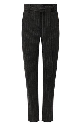 Женские брюки из смеси шерсти и кашемира ELEVENTY темно-серого цвета, арт. 980PA0166 JAC28016 | Фото 1 (Материал внешний: Шерсть; Длина (брюки, джинсы): Стандартные; Женское Кросс-КТ: Брюки-одежда; Силуэт Ж (брюки и джинсы): Прямые; Материал подклада: Синтетический материал; Случай: Формальный; Статус проверки: Проверена категория)
