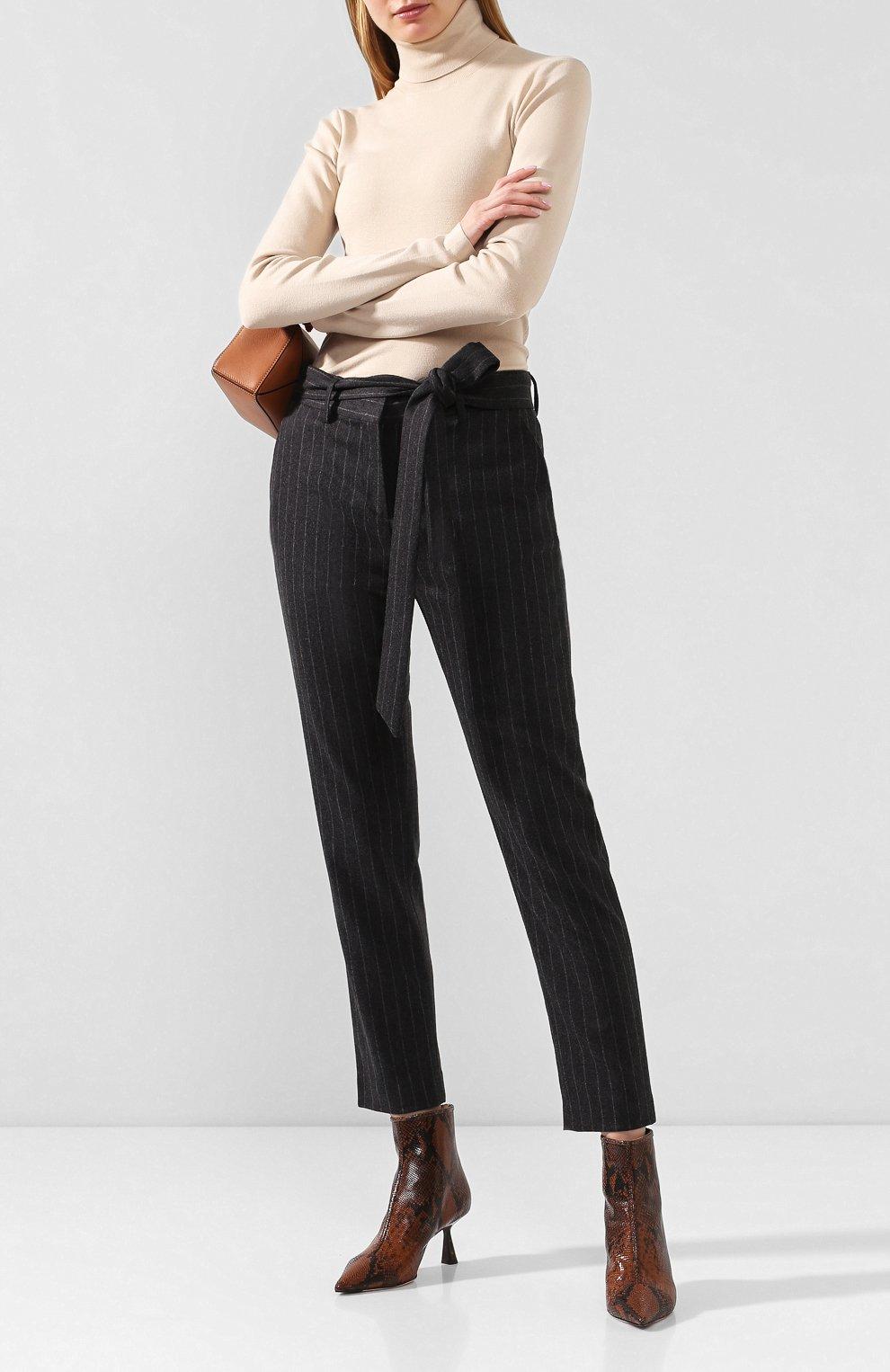 Женские брюки из смеси шерсти и кашемира ELEVENTY темно-серого цвета, арт. 980PA0166 JAC28016 | Фото 2 (Материал внешний: Шерсть; Длина (брюки, джинсы): Стандартные; Женское Кросс-КТ: Брюки-одежда; Силуэт Ж (брюки и джинсы): Прямые; Материал подклада: Синтетический материал; Случай: Формальный; Статус проверки: Проверена категория)