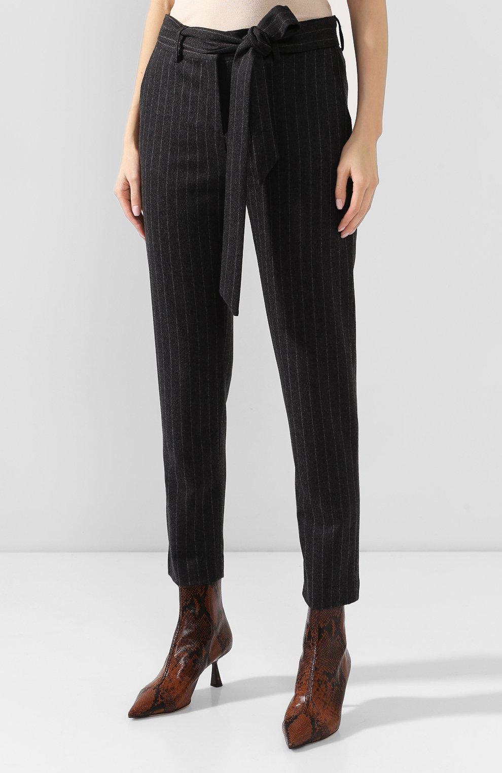 Женские брюки из смеси шерсти и кашемира ELEVENTY темно-серого цвета, арт. 980PA0166 JAC28016 | Фото 3 (Материал внешний: Шерсть; Длина (брюки, джинсы): Стандартные; Женское Кросс-КТ: Брюки-одежда; Силуэт Ж (брюки и джинсы): Прямые; Материал подклада: Синтетический материал; Случай: Формальный; Статус проверки: Проверена категория)