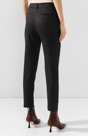 Женские брюки из смеси шерсти и кашемира ELEVENTY темно-серого цвета, арт. 980PA0166 JAC28016 | Фото 4 (Материал внешний: Шерсть; Длина (брюки, джинсы): Стандартные; Женское Кросс-КТ: Брюки-одежда; Силуэт Ж (брюки и джинсы): Прямые; Материал подклада: Синтетический материал; Случай: Формальный; Статус проверки: Проверена категория)