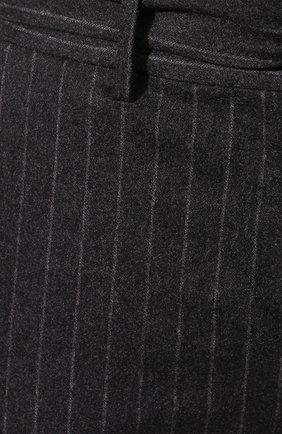 Женские брюки из смеси шерсти и кашемира ELEVENTY темно-серого цвета, арт. 980PA0166 JAC28016 | Фото 5 (Материал внешний: Шерсть; Длина (брюки, джинсы): Стандартные; Женское Кросс-КТ: Брюки-одежда; Силуэт Ж (брюки и джинсы): Прямые; Материал подклада: Синтетический материал; Случай: Формальный; Статус проверки: Проверена категория)