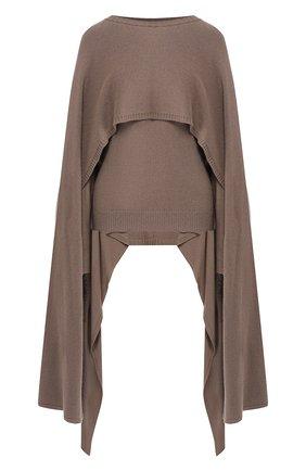 Женский кашемировый пуловер DEVEAUX NEW YORK бежевого цвета, арт. M192-707-LP1 | Фото 1