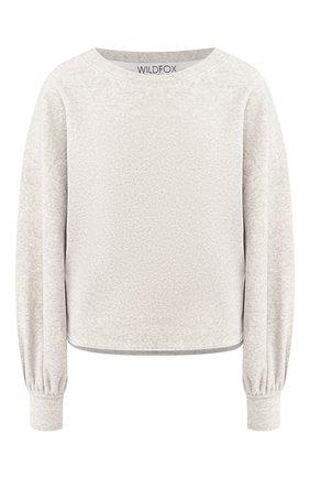 Женская хлопковый пуловер WILDFOX серого цвета, арт. WVH42A000   Фото 1