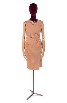 Женское платье из смеси вискозы и шелка LANVIN розового цвета, арт. W021712117C7B | Фото 1