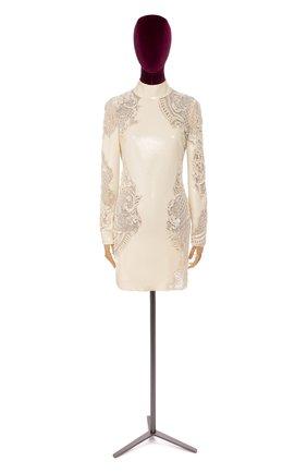 Женское платье ROBERTO CAVALLI белого цвета, арт. BWR114/JE035 | Фото 1