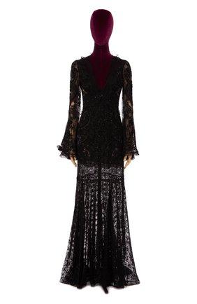 Женское платье-макси ROBERTO CAVALLI черного цвета, арт. DWR106/RP045 | Фото 1