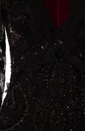 Женское платье-макси ROBERTO CAVALLI черного цвета, арт. DWR106/RP045 | Фото 2