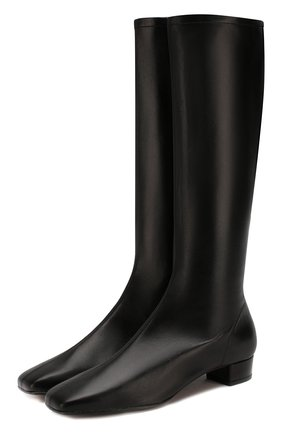 Женские кожаные сапоги edie BY FAR черного цвета, арт. 19FWEDIDBLL   Фото 1