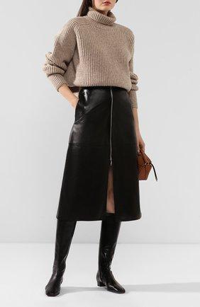 Женские кожаные сапоги edie BY FAR черного цвета, арт. 19FWEDIDBLL   Фото 2