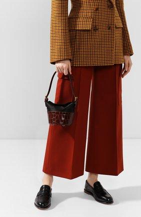 Женская сумка jamie BY FAR темно-коричневого цвета, арт. 19FWMIJANEDSMA   Фото 2