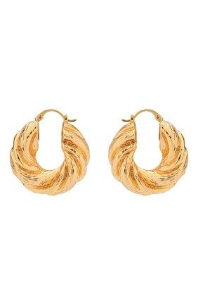 Женские серьги twist hoops REJINA PYO золотого цвета, арт. RP-E007 | Фото 1