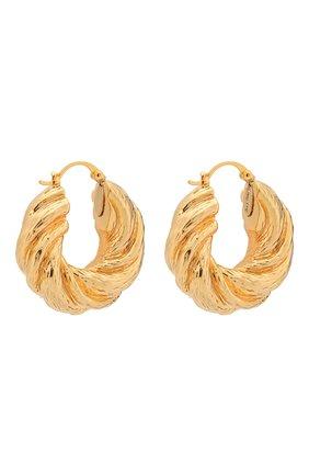 Женские серьги twist hoops REJINA PYO золотого цвета, арт. RP-E007 | Фото 3