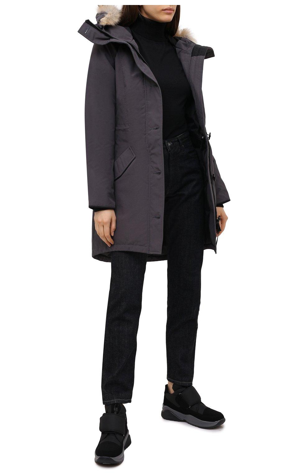 Женские текстильные ботинки JOG DOG черного цвета, арт. 1607R/DR_TU0N0SIGMA/W   Фото 2