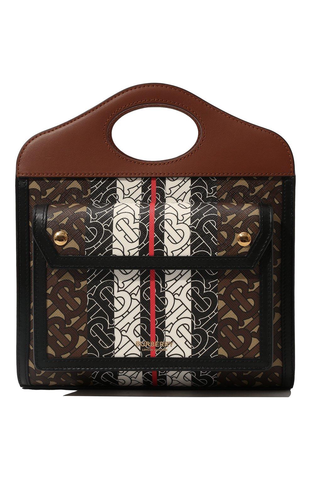 Женская сумка pocket mini BURBERRY коричневого цвета, арт. 8019365 | Фото 1
