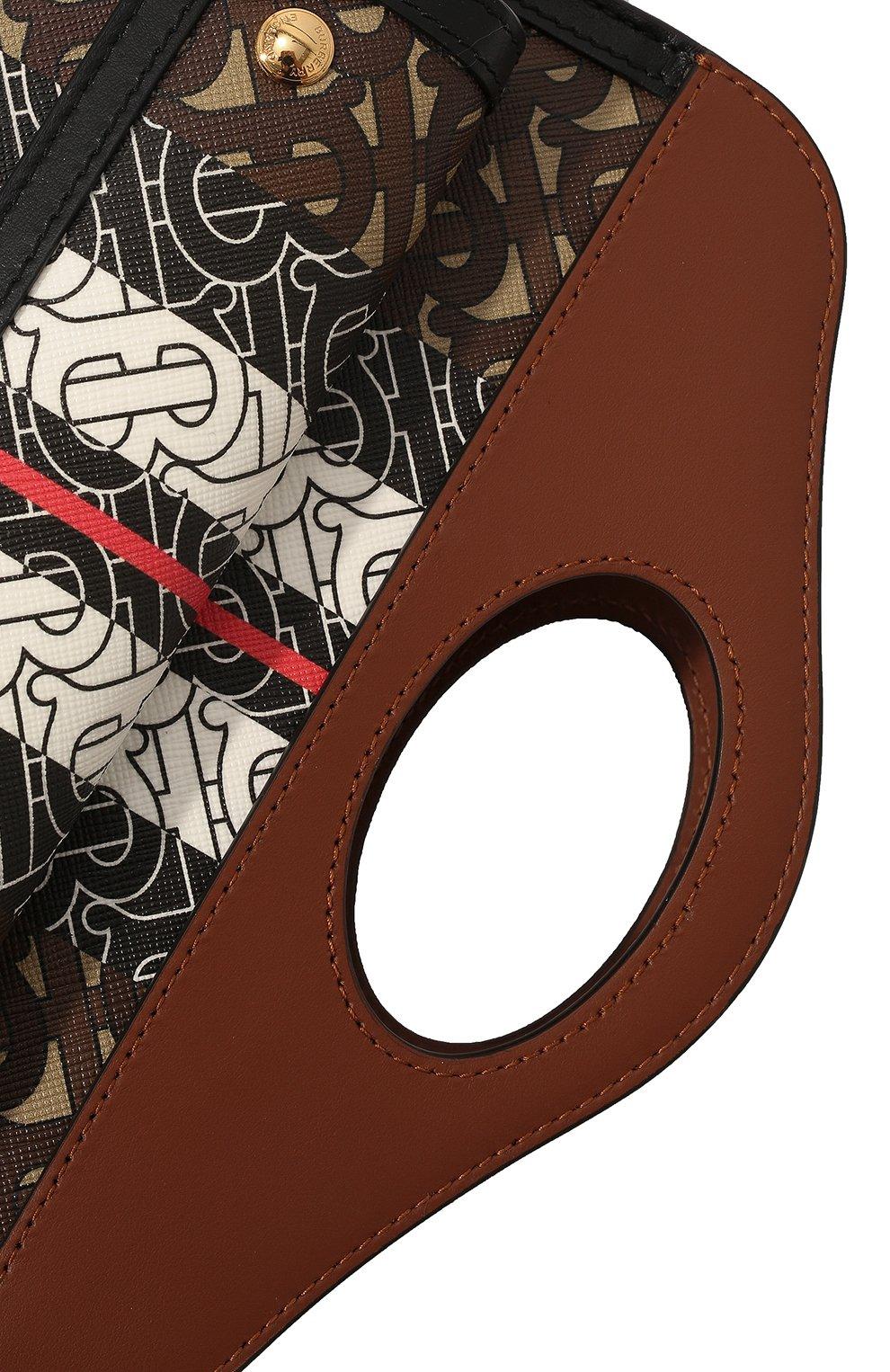 Женская сумка pocket mini BURBERRY коричневого цвета, арт. 8019365 | Фото 2