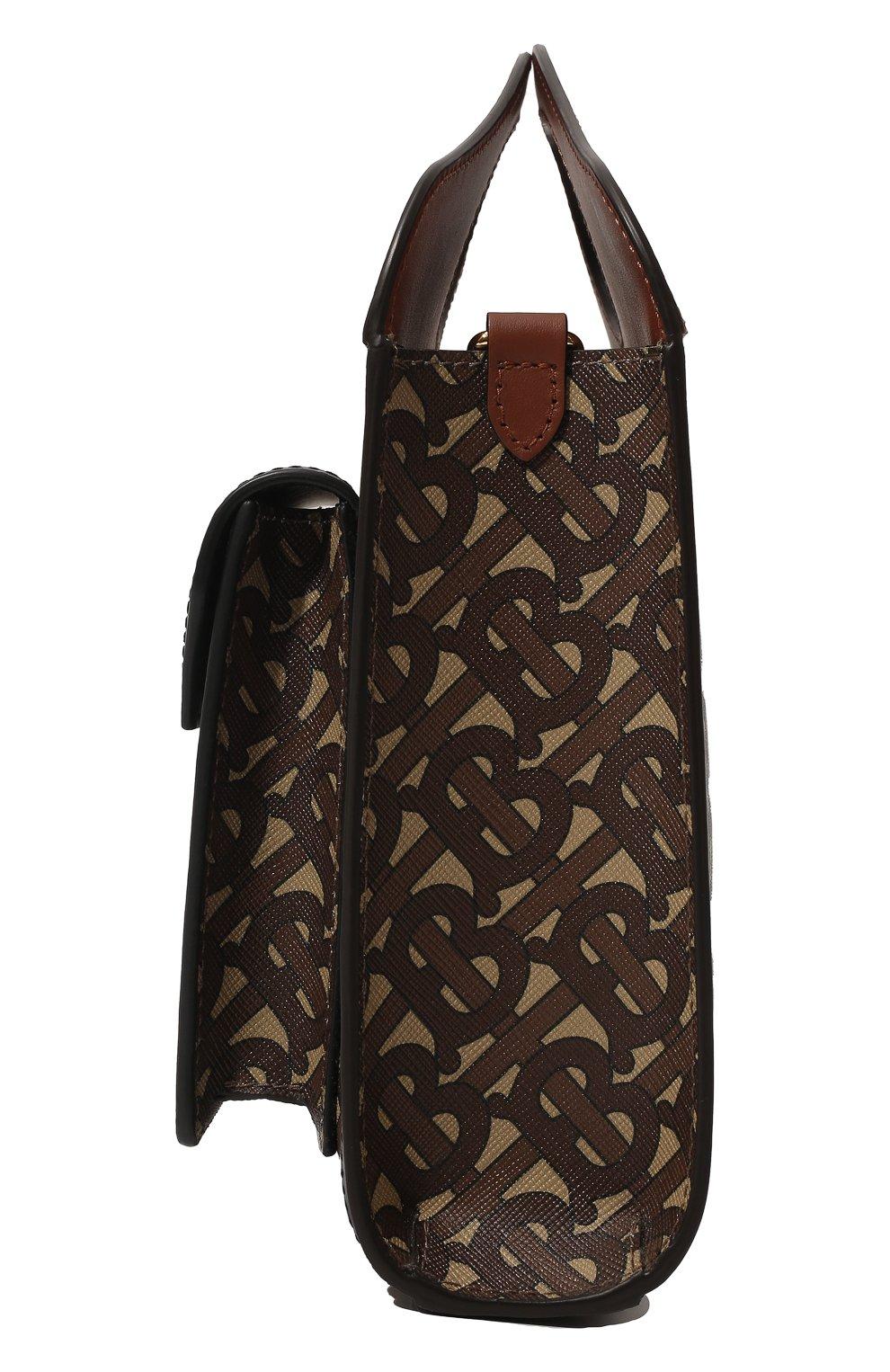 Женская сумка pocket mini BURBERRY коричневого цвета, арт. 8019365 | Фото 3