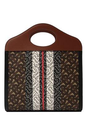 Женская сумка pocket mini BURBERRY коричневого цвета, арт. 8019365 | Фото 5