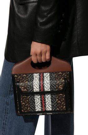 Женская сумка pocket mini BURBERRY коричневого цвета, арт. 8019365 | Фото 6