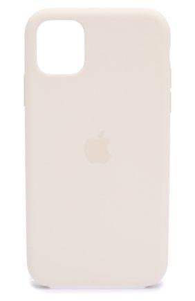 Мужской чехол для iphone 11 APPLE  белого цвета, арт. MWVX2ZM/A | Фото 1