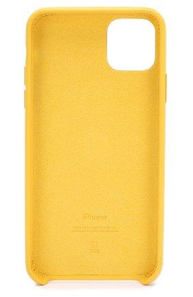Мужской чехол для iphone 11 pro max APPLE  желтого цвета, арт. MX0A2ZM/A | Фото 2